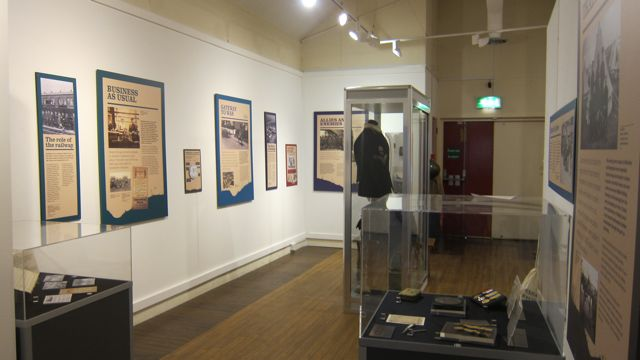 Soldiers' Journey exhibition at Eastleigh Museum.