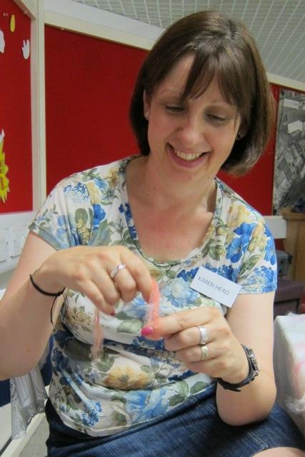 Textile artist Karen Head