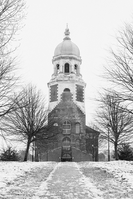 "Netley Hospital Chapel in the snow, by <a href=""https://www.flickr.com/photos/ryanprince1974/8399213135"">Ryan Prince</a> via Flickr."