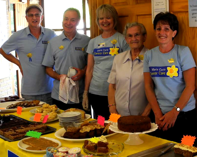 Fundraising for Marie Curie at the church hall in Valley Park.