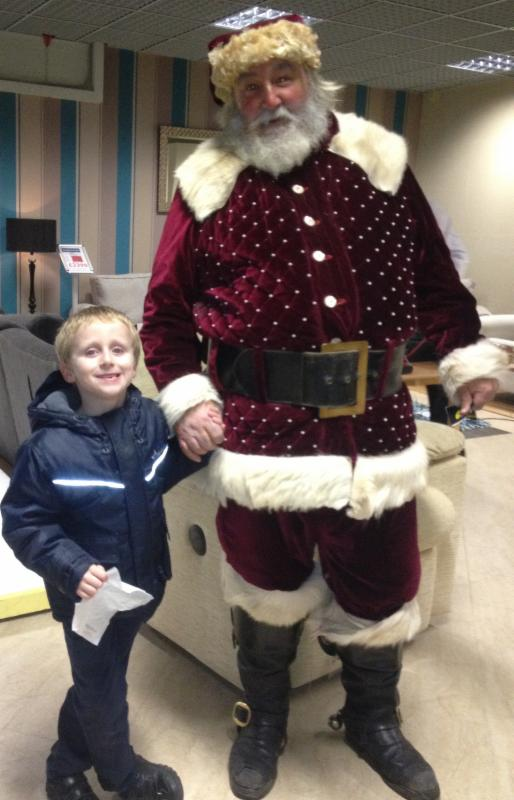 The real Father Christmas has been visiting Peter Green in Chandler's Ford for over 20 years.