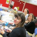 Designers and artists from The Sorting Office in Eastleigh: Carly Mann, Mariska Parent, Helen McArdle, and Karen Head.