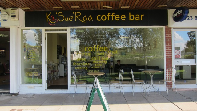 Welcoming: K'Sue Raa Coffee Bar at the Central Precinct of Chandler's Ford.