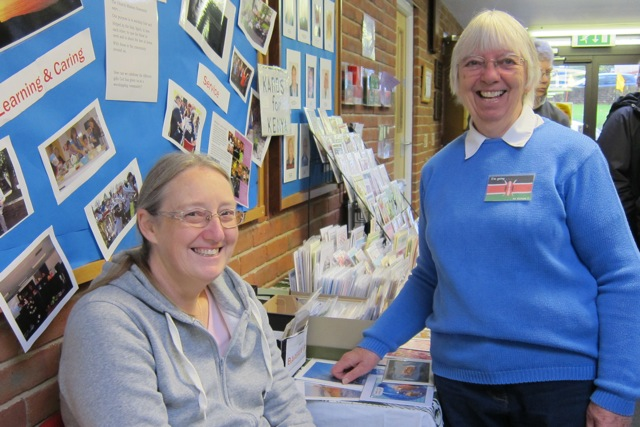 Susan Gulliver (left) and Shirley Dunsire - fundraising for their Kenya project.