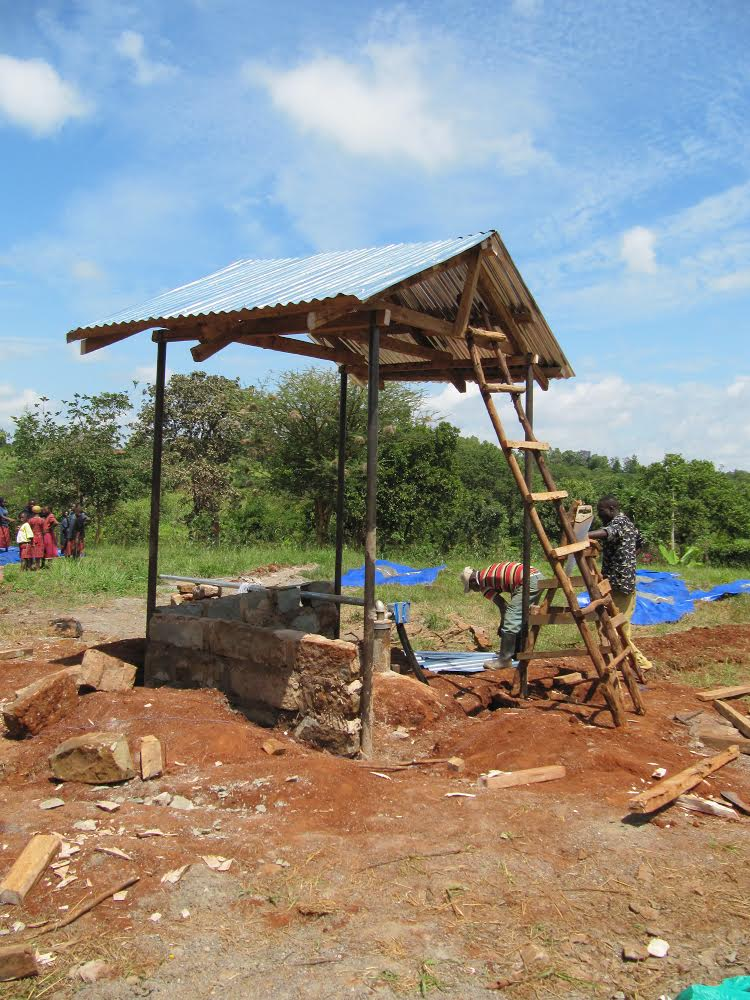 From Chandler's Ford to Kenya - the bore hole we had dug with our funds at the clinic.
