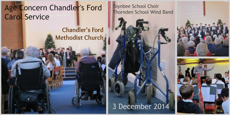 Chandler's Ford Age Concern Carol Service at the Methodist Church, on 3rd December 2014.
