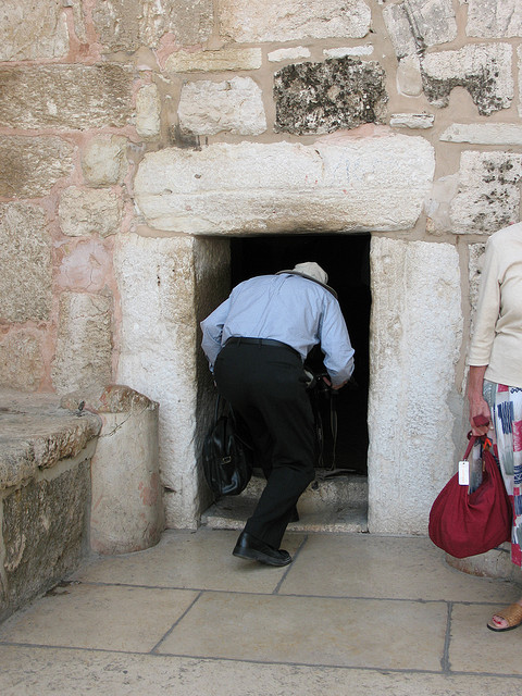 """Church of the Nativity entrance. Image by <a href=""""https://www.flickr.com/photos/emeryjl/507851678/in/photostream/"""">James Emery</a> via Flickr."""
