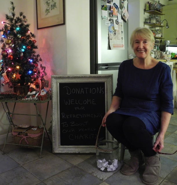 Lyn runs a pop-up charity tearoom in Peverells Wood Avenue, Chandler's Ford, raising money for charity.