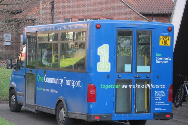 One Community Transport - providing transport for the elderly in Chandler's Ford.