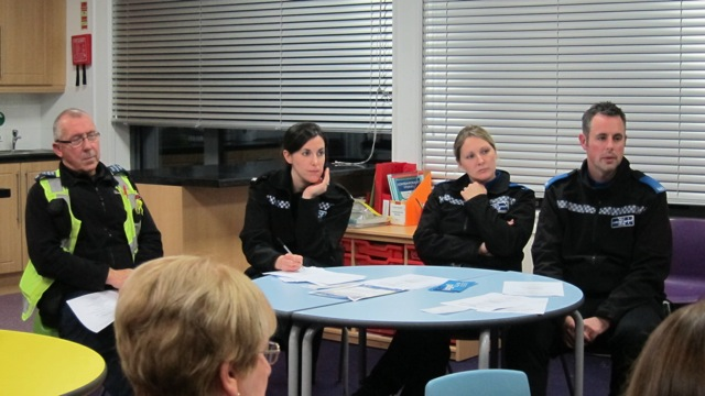 The first PACT meeting in Chandler's Ford was led by PC Laura King, PCSO Victoria Popham and PCSO Ian Nicholson.