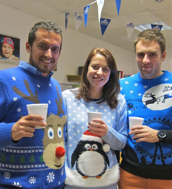 Chris Rees (left), Yvotte, and Ben from Rees Leisure wishing everyone Merry Christmas.