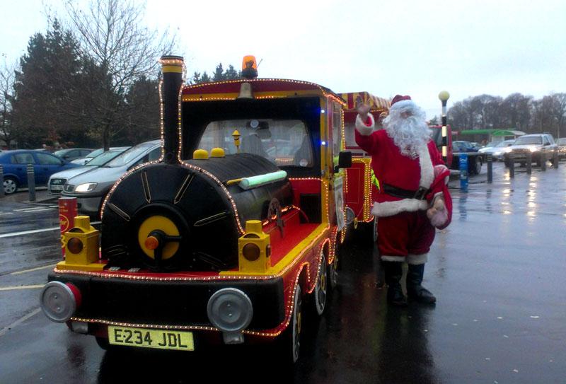 Santa with Eastleigh Rotary at Asda. (2013 image)