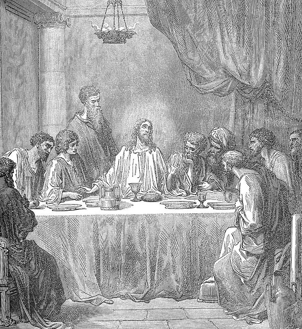 "Jesus and His Disciples at The Last Supper. Image via Martin LaBar <a href=""https://www.flickr.com/photos/martinlabar/6876657""> on Flickr</a>."