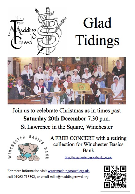 The Madding Crowd concert in aid of Winchester Basics Bank.