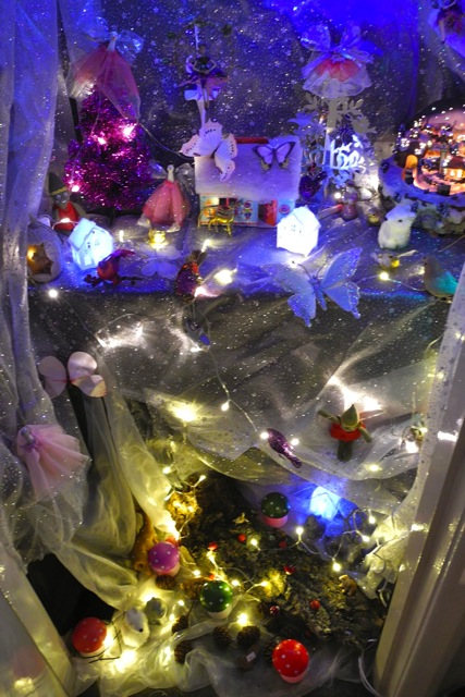 Lyn welcomes your visit to her magical Christmas grotto.