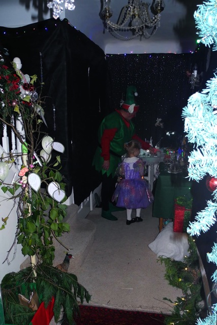 Lovely Christmas grotto at Lyn's house in Chandler's Ford.