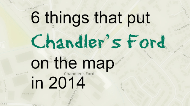 Chandler's Ford 2014 map