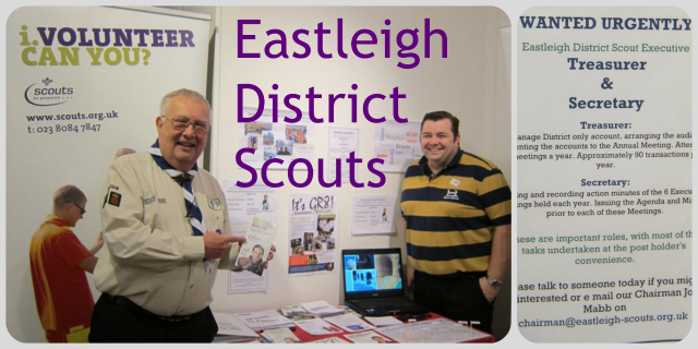 Eastleigh District Scouts: (left) Ian Patrick, group scout leader, and Rob Whittington, Chairman of Eastleigh 7th scout group.
