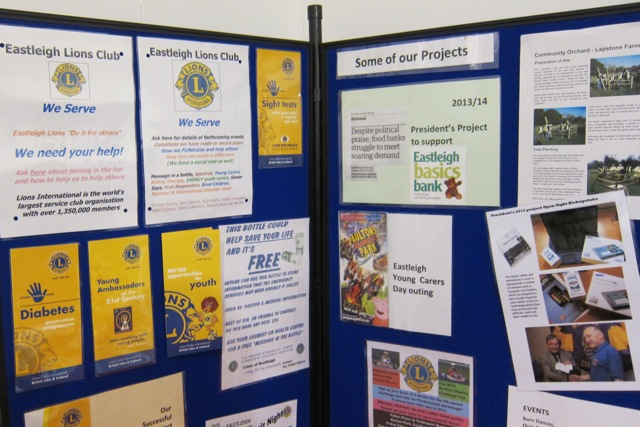Lions Club of Eastleigh shows important work in the community and encourages you to join them.