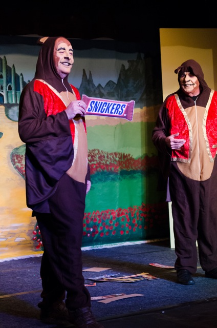 Two hilarious Monkeys - funny jokes with sweets. From the Wizard of Oz by Chandler's Ford Chameleon Company, Jan 2015