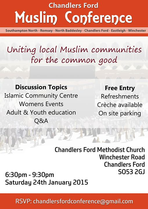 Muslim Conference at the Chandler's Ford Methodist Church.