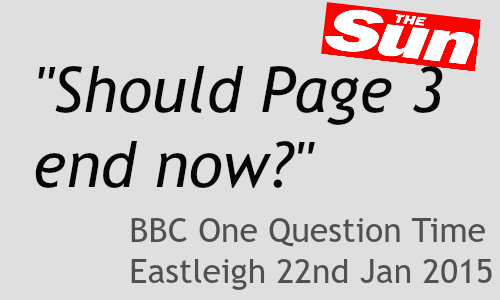 First question on BBC One Question Time in Eastleigh.