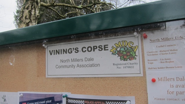 Donated by the Vining family: the table and bench at the corner of North Millers Dale and Hursley Road, Chandler's Ford.