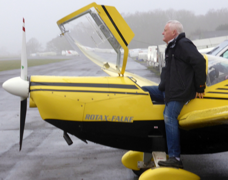 Falke Motor Glider. You have to be fit to get into it.