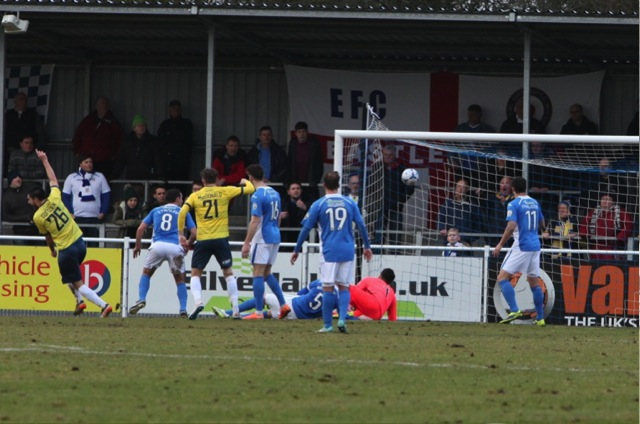 Torquay equalise in the 44th minute.