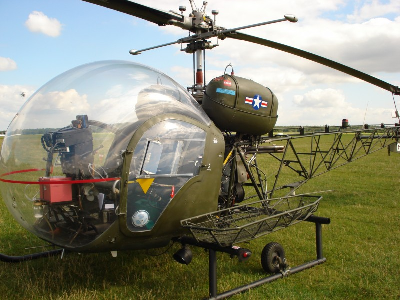 Another interesting visitor was this MASH helicopter