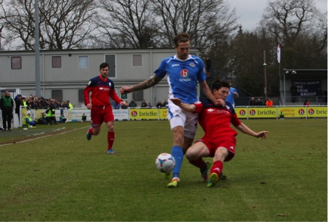 Eastleigh debutant Harry Pell.