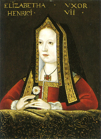 Elizabeth of York, via Wikimedia Commons. Interesting fact: This is the image used as the Queen of Hearts in our standard deck of cards.