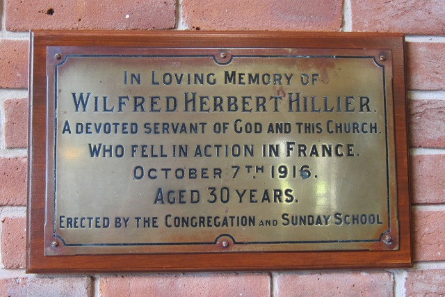 Wilfred Herbert Hillier was the great uncle of local historian Barbara Hillier.