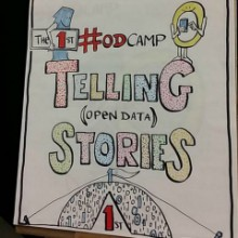 Open Data Camp Winchester 21-22 Feb 2015; image by Drawnalism