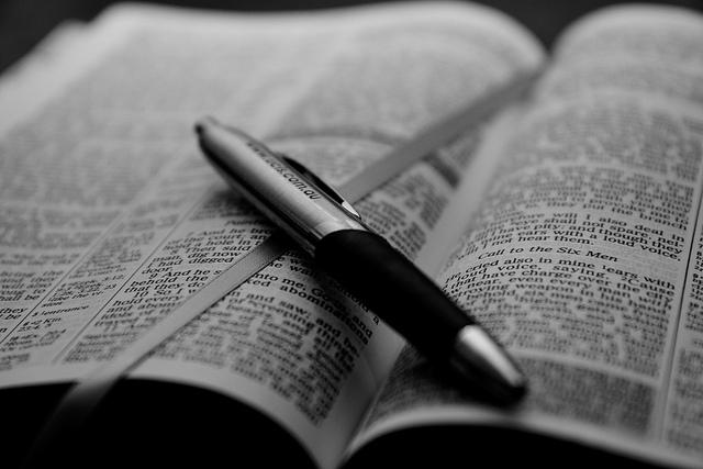 "Bible by <a href=""https://www.flickr.com/photos/rykneethling/4543063042"">Ryk Neethling</a>  via Flickr."