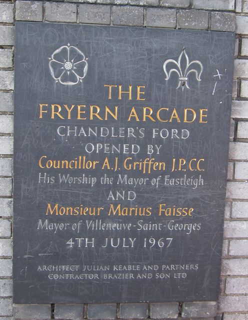 The Fryern Arcade Chandler's Ford was opened on 4th July 1967.