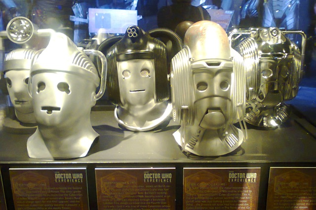 How the Cybermen Helmets have changed over the years. The DOCTOR WHO EXPERIENCE in Cardiff.