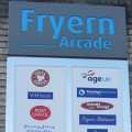 Chandler's Ford Fryern Arcade signboard feature.
