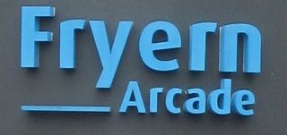 Fryern Arcade small blue sign