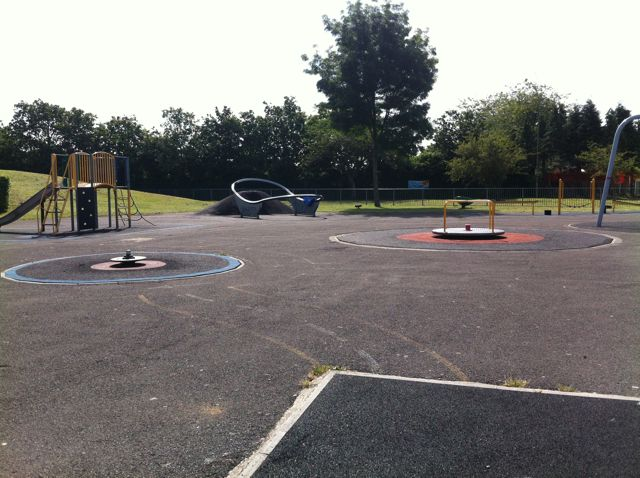 Play area at Fryern Recreation Ground in Chandler's Ford.
