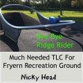 Fryern recreation ground Chandler's Ford: bye-bye Ridge Rider.