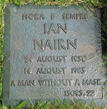 "Ian Nairn: A man without a mask. Image by <a href=""https://www.flickr.com/photos/moley75/14519958535"">Hazel Simpson</a> via Flickr. Image cropped."
