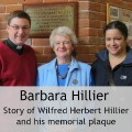 Reverend Peter Cornick, Barbara Hillier, and her daughter Jo Nash: re-dedication of memorial plaque of Wilfred Herbert Hillier at Chandler's Ford Methodist Church, 28 Feb 2015.