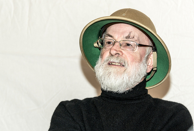 "Sir Terry Pratchett. Image by <a href=""https://www.flickr.com/photos/steeljam/8721571504/in/set-72157634468156183"">Steve James</a> via Flickr."