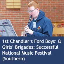 1st Chandler's Ford Boys' & Girls' Brigades Successful National Music Festival (Southern) 2015