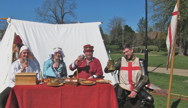 Members from Black Knight Historical entertained visitors in Eastleigh.