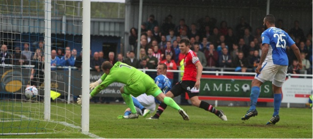 Jamie Constable put Eastleigh ahead and books a play off spot.