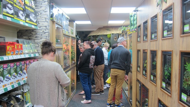 Tropic Exotics in Eastleigh attracted lots of people today.