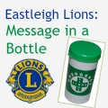 Message in a Bottle Eastleigh Lions