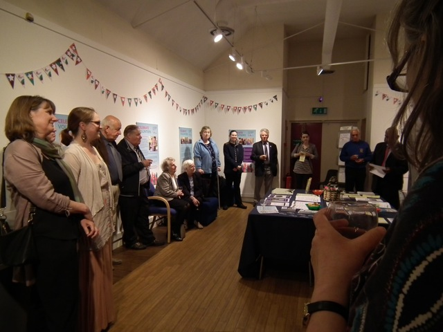Celebrate Volunteers exhibition - event opened by Mayor of Eastleigh, Councillor Jane Welsh.